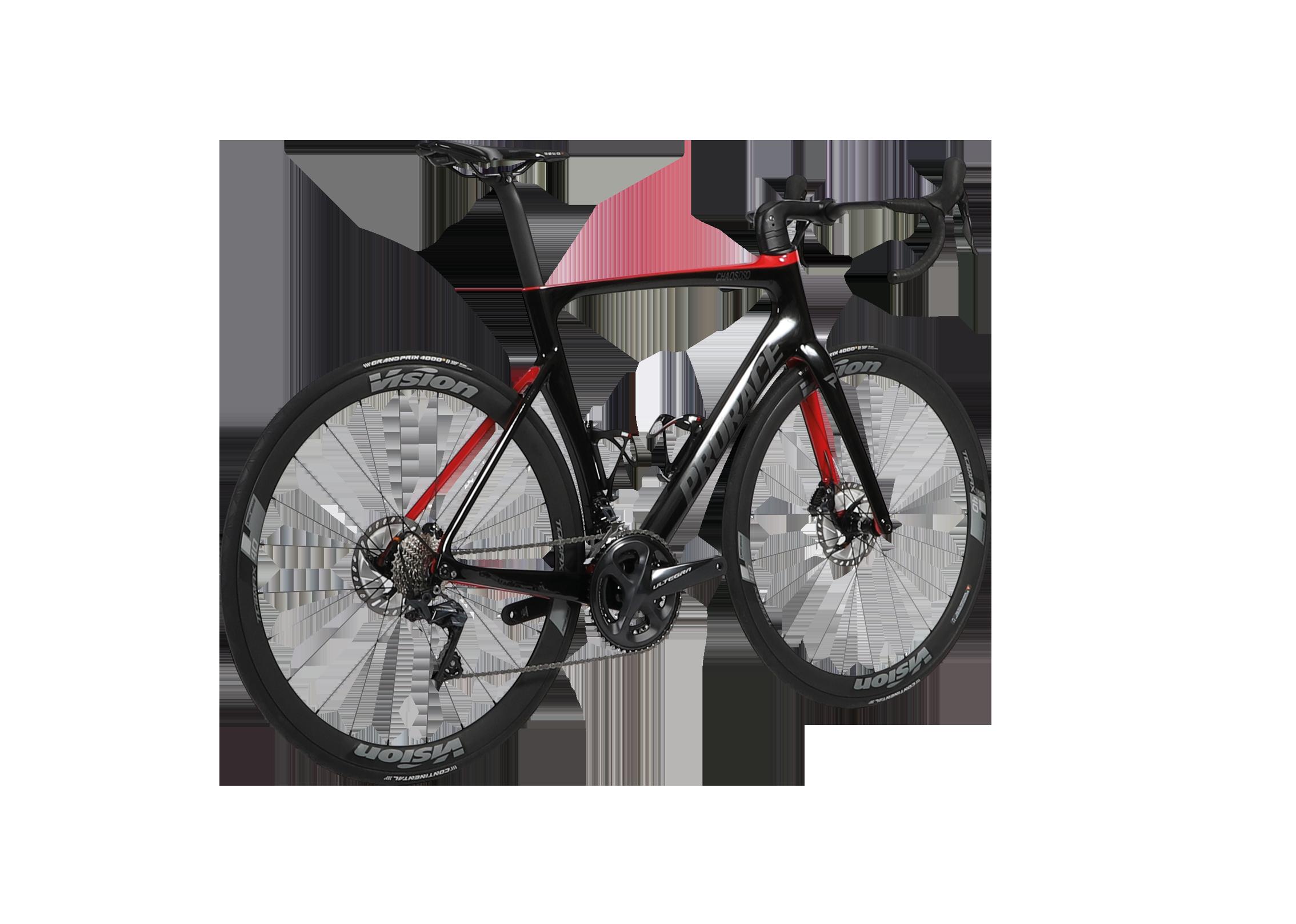 Chaos DSQ aerodynamische Prorace fiets met schijfremmen achteraanzicht