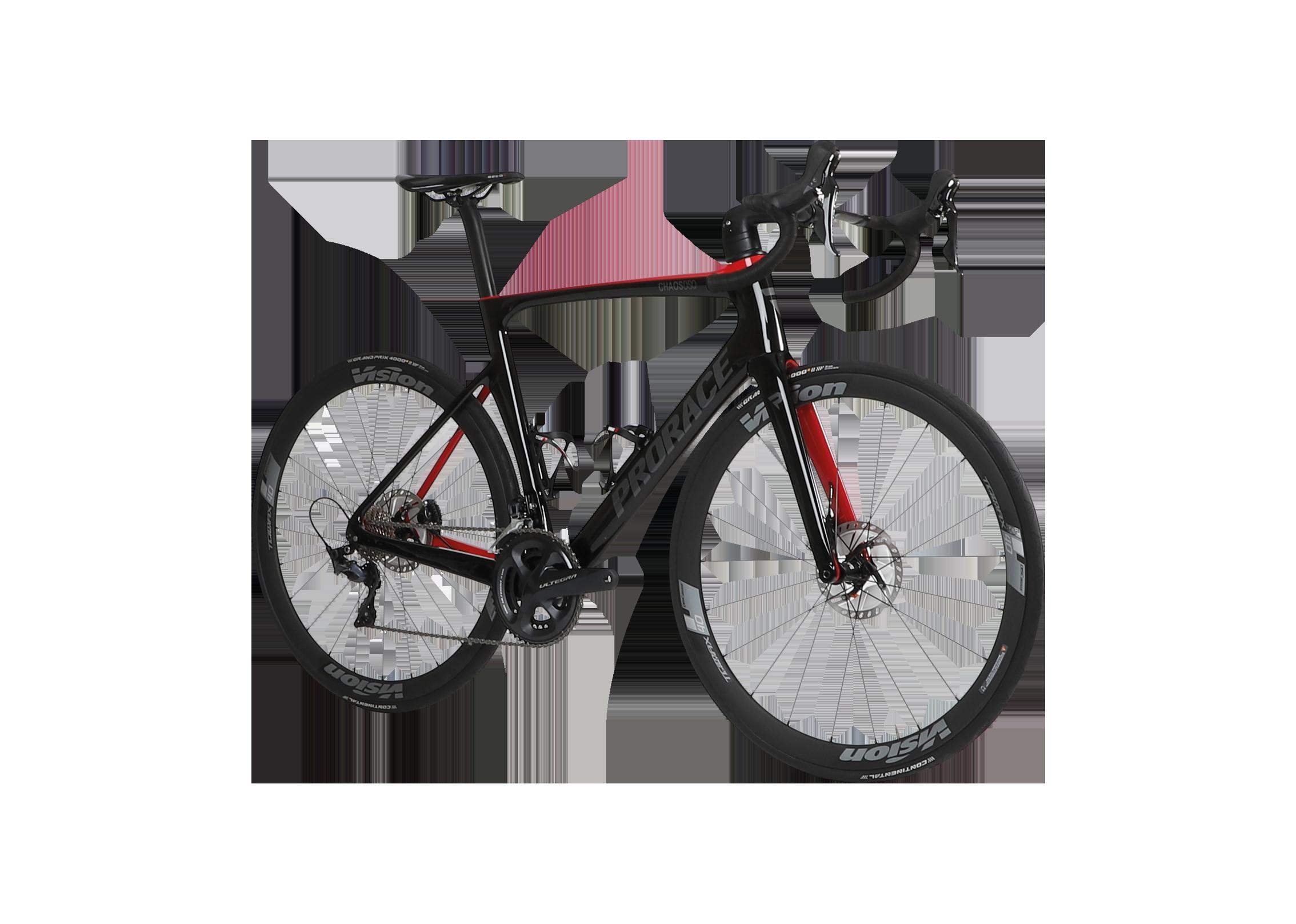 Chaos DSQ aerodynamische Prorace fiets met schijfremmen vooraanzicht