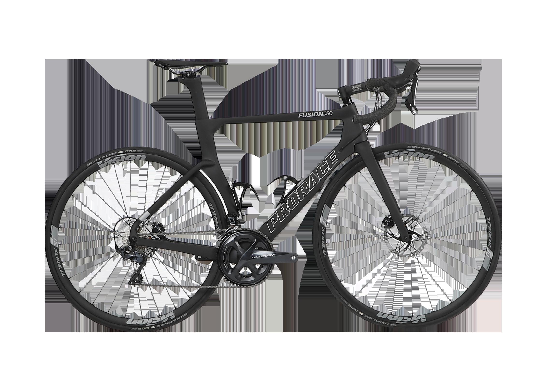 Fusion DSQ Aerodynamische Prorace fiets met schijfremmen zijaanzicht