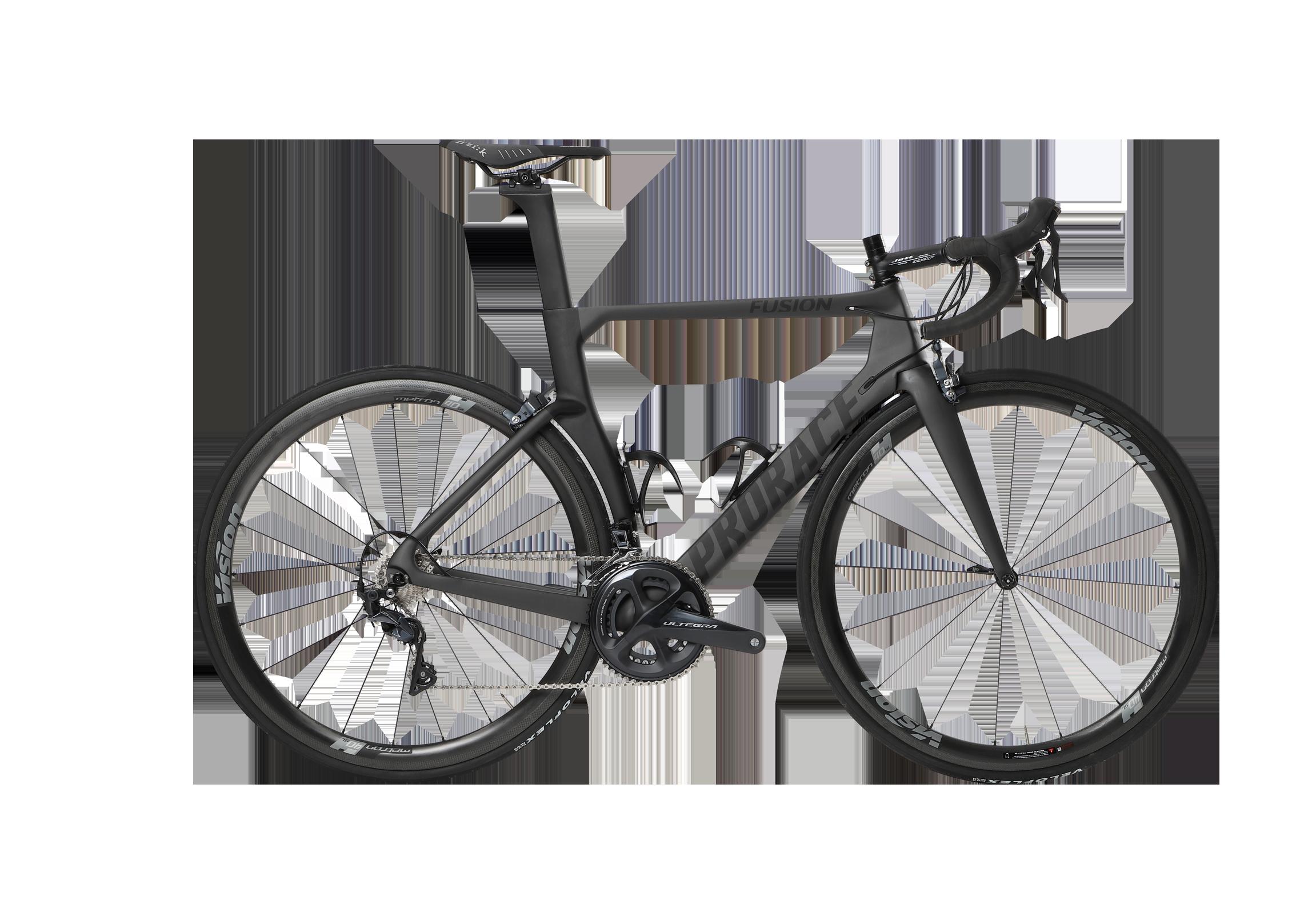 Fusion aerodynamische Prorace fiets zijaanzicht