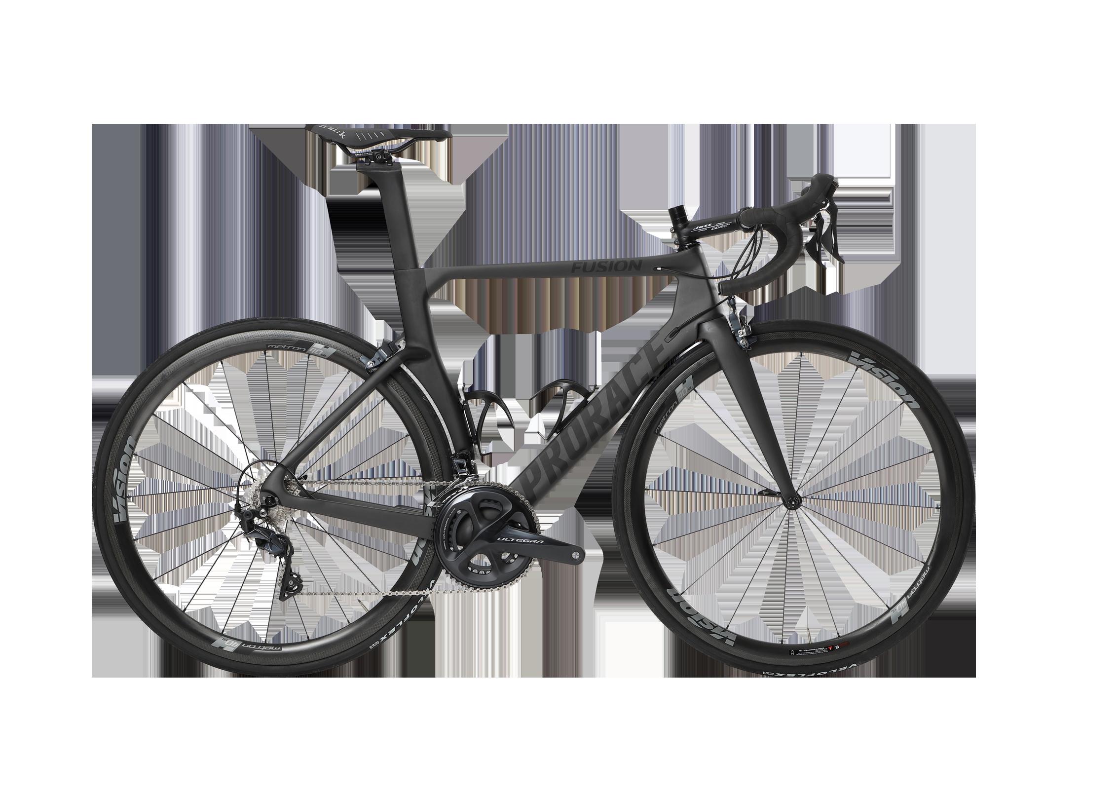 Fusion Aerodynamische Prorace fiets met velgremmen zijaanzicht
