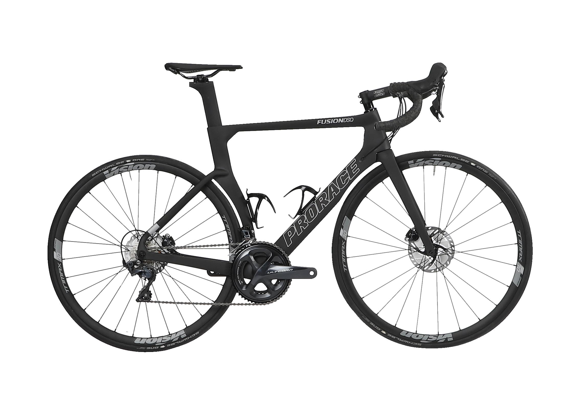 Fusion DSQ aerodynamische Prorace fiets zijaanzicht