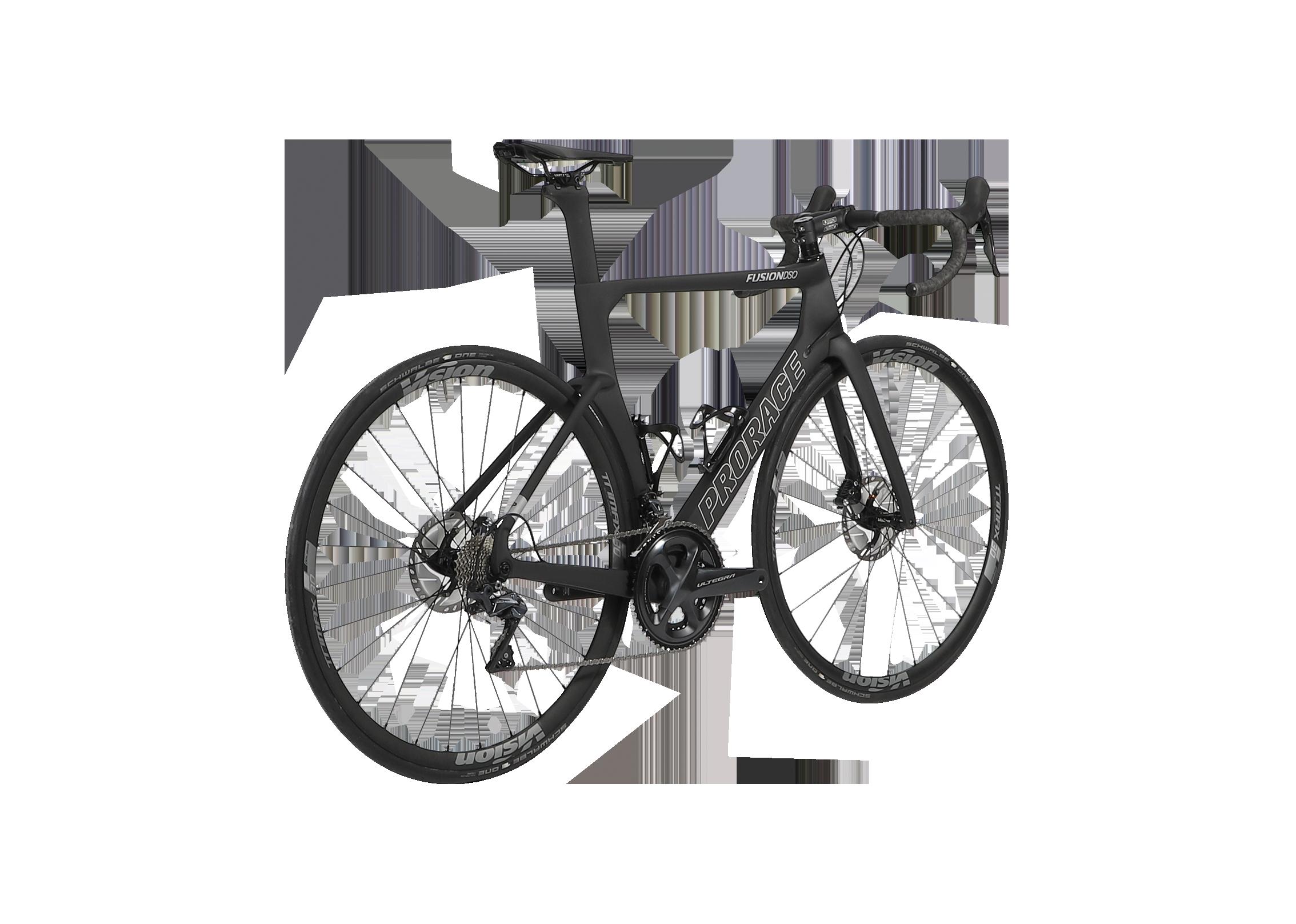 Fusion DSQ aerodynamische fiets Prorace achteraanzicht