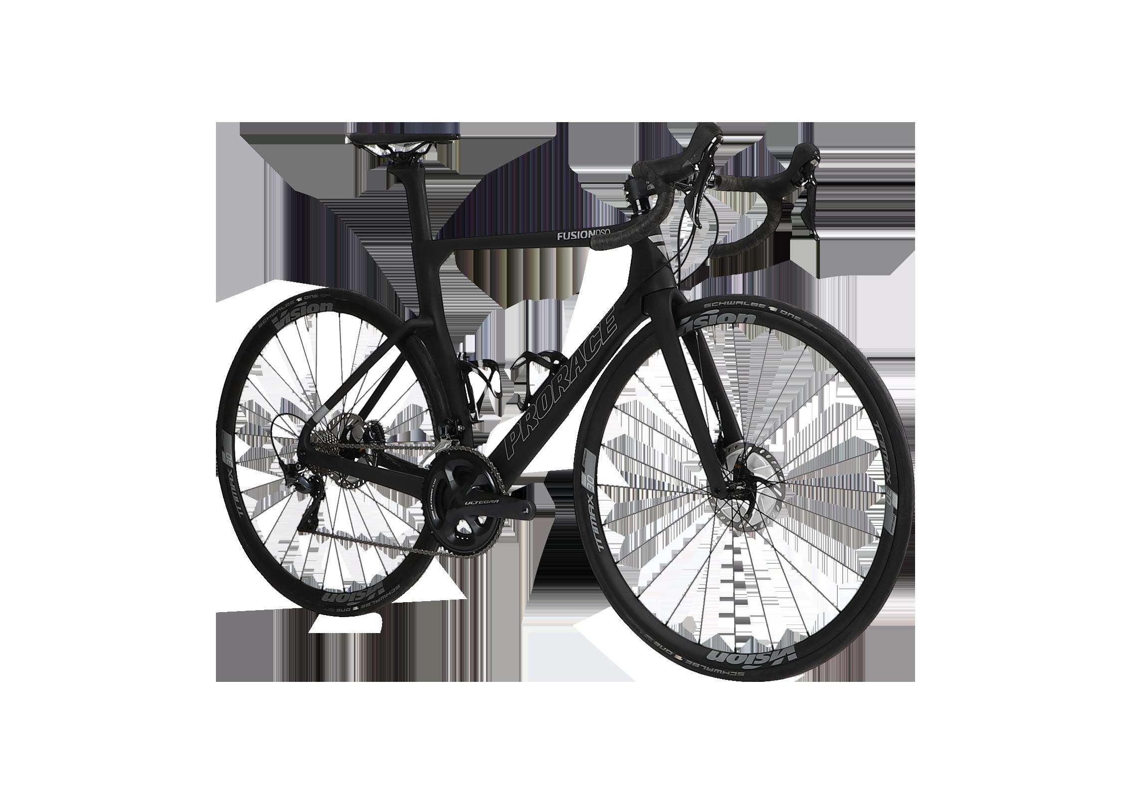 Fusion DSQ aerodynamische fiets Prorace vooraanzicht
