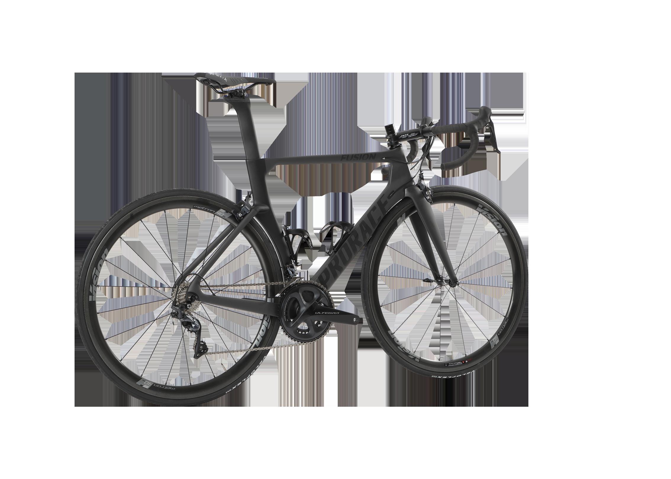 Fusion aerodynamische Prorace fiets achteraanzicht