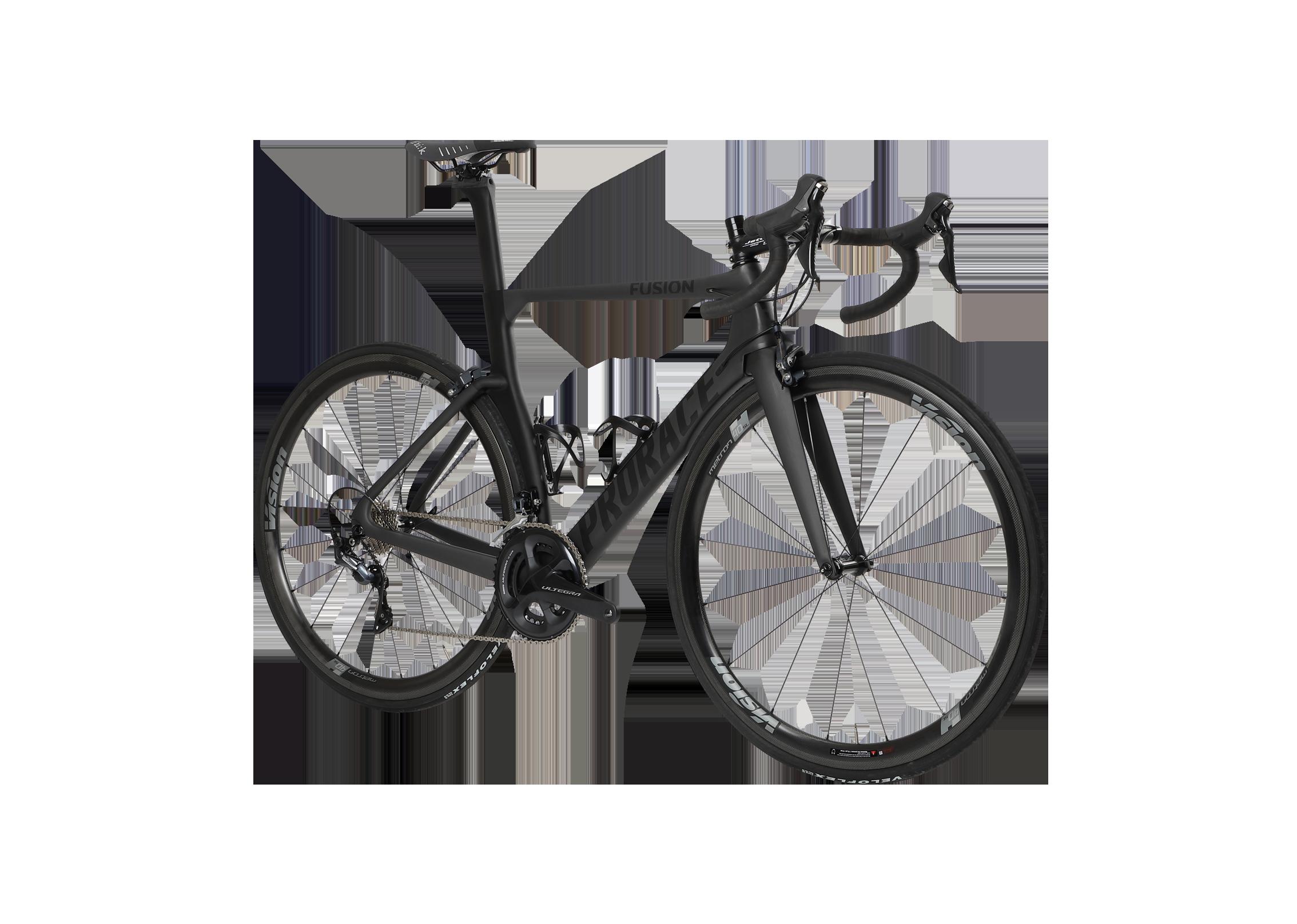 Fusion aerodynamische Prorace fiets vooraanzicht