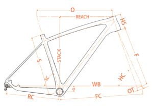 Geometrie Vicco SL mountainbike frame